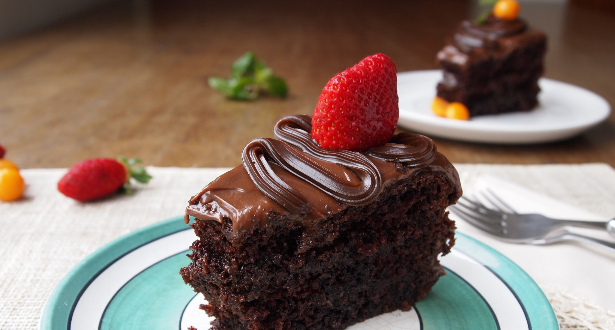 Chocolate Cake With Vinegar And Coffee