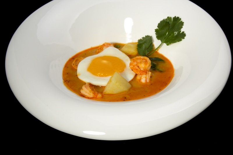 Shrimp soup. It is an original dish from Arequipa, with the famous shrimp that abound in its rivers of crystal clear waters.