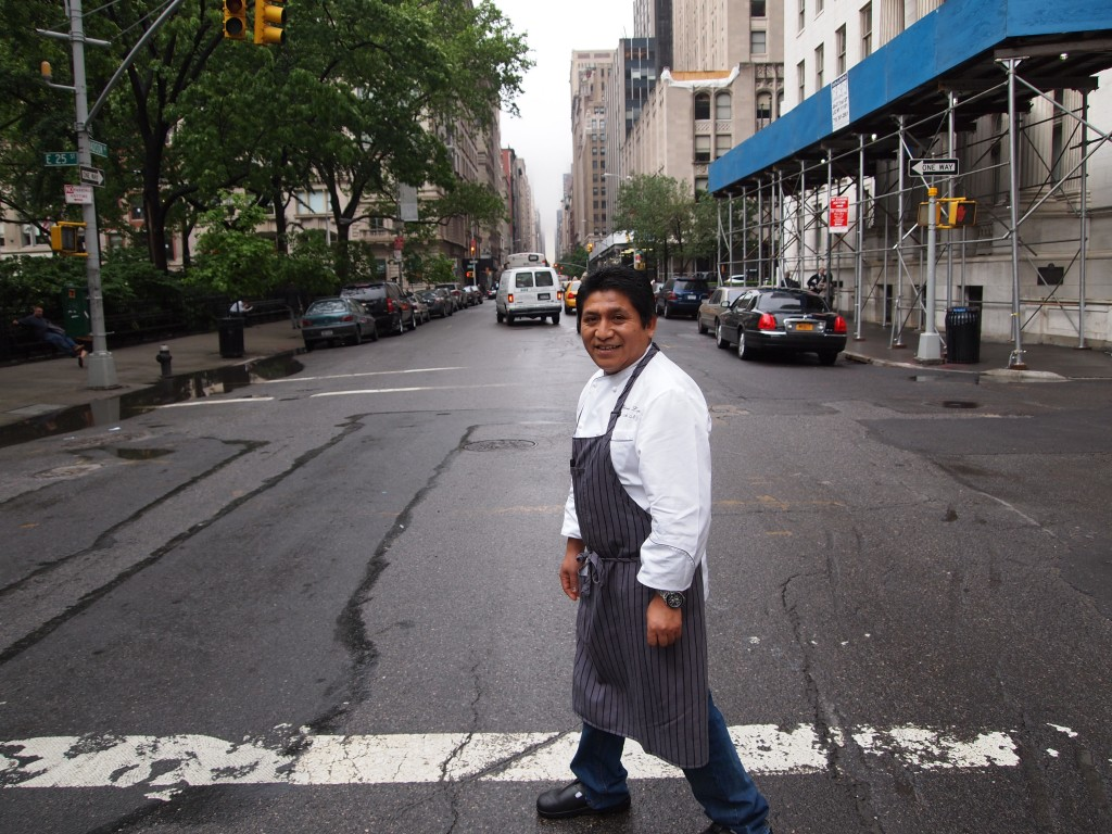 Victoriano Lopez in the streets of New York