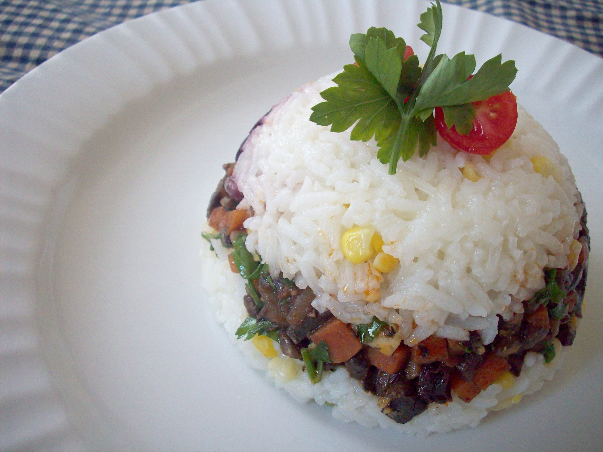 MeatlessMondays – Vegetarian Arroz Tapado! | PERU DELIGHTS