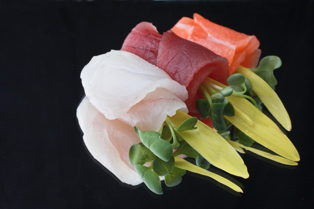 Sole, Tuna, and Salmon Sashimi