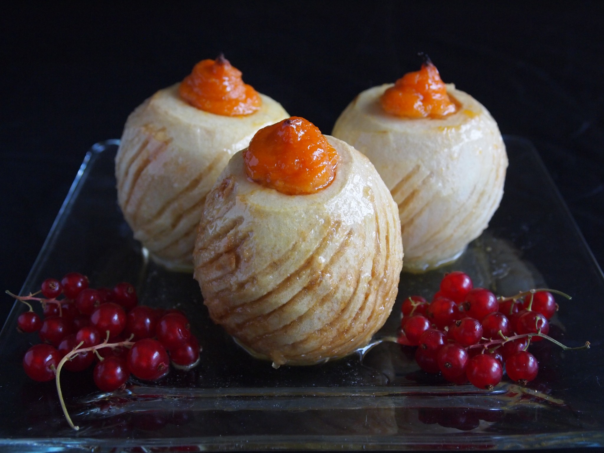 Christmas Baked Apples with Mashed Sweet Potatoes