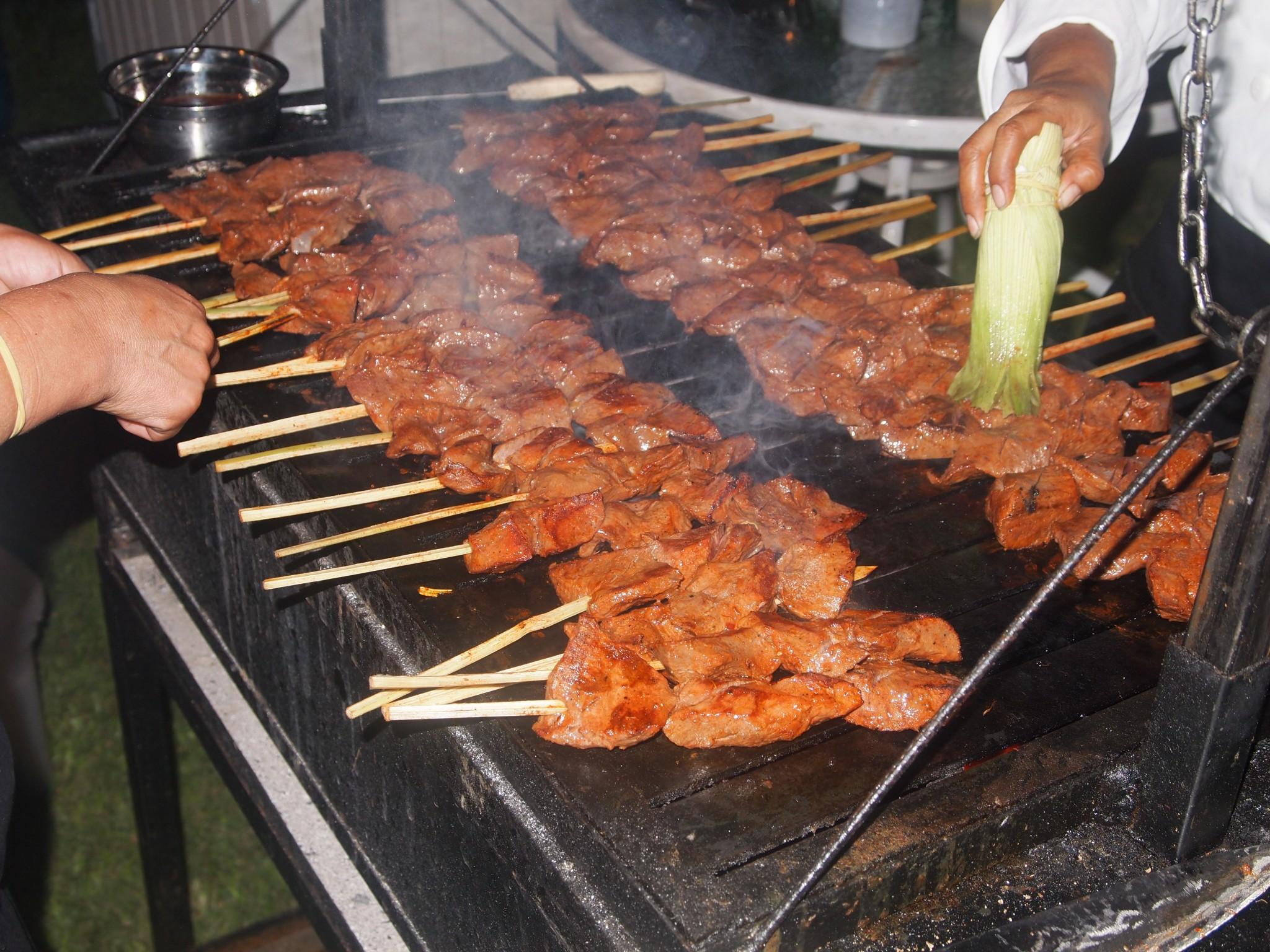 Anticuchos cow s heart kebabs flavor on a stick peru