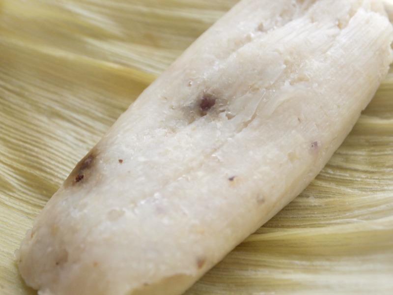 Humita with raisins
