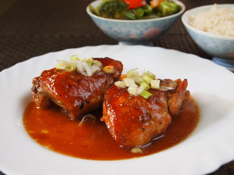 chicken with soy sauce