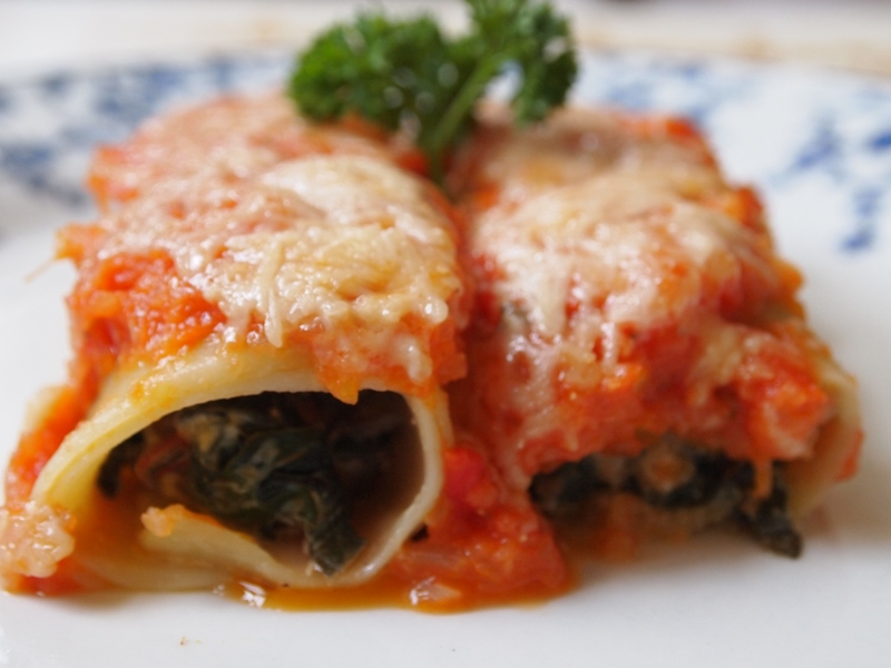 Chard cannelloni