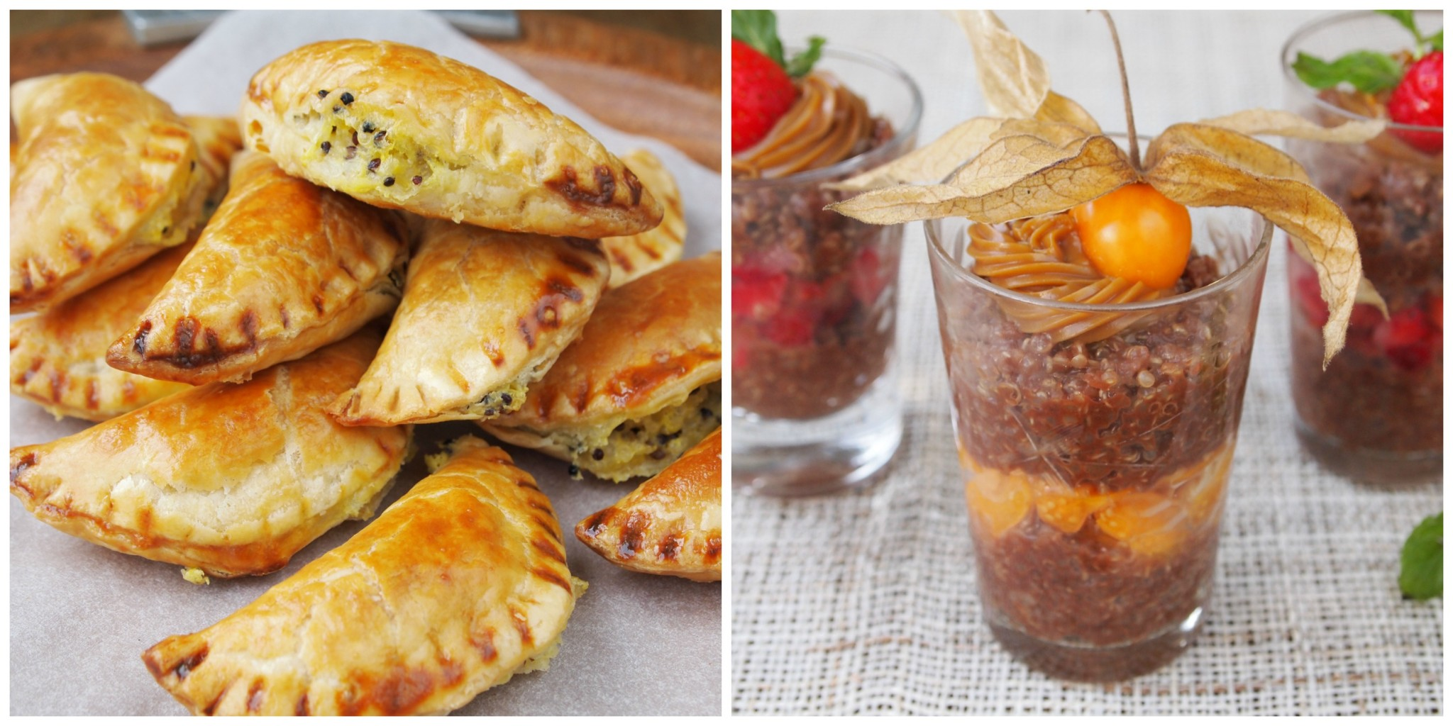 Quinoa Empanadas & Easy Quinoa and Nutella Pudding