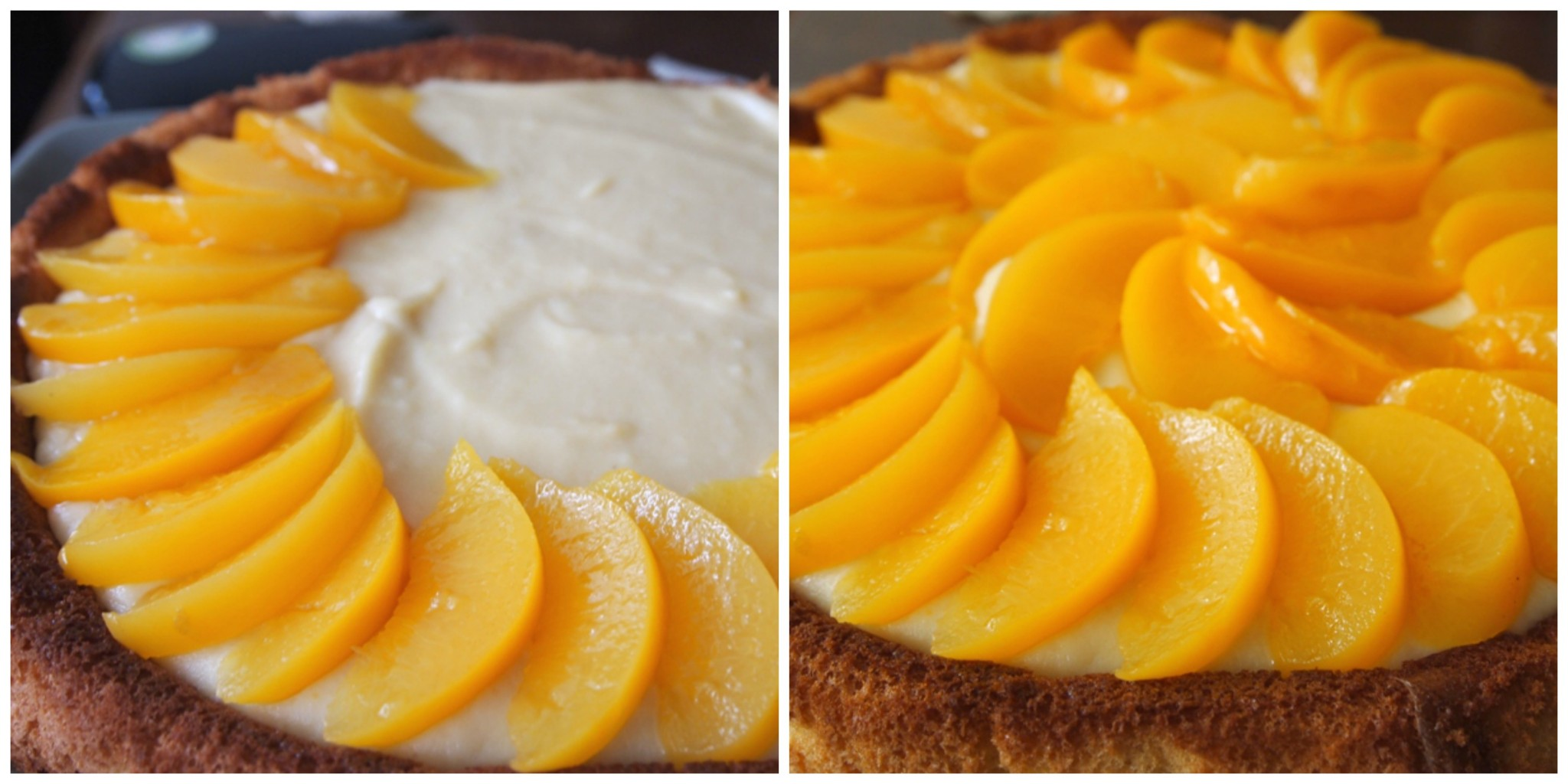 Peaches and cream cake. jpg