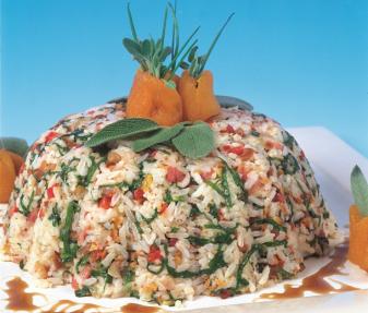 Christmas Rice with Balsamic Syrup