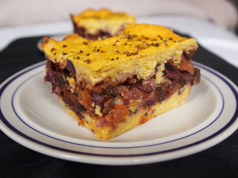 Meatlessmondays vegetarian corn pudding pastel de choclo