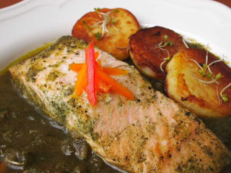 salmon sudado fatima – healthy salmon dish inspired by the new baby in our family!