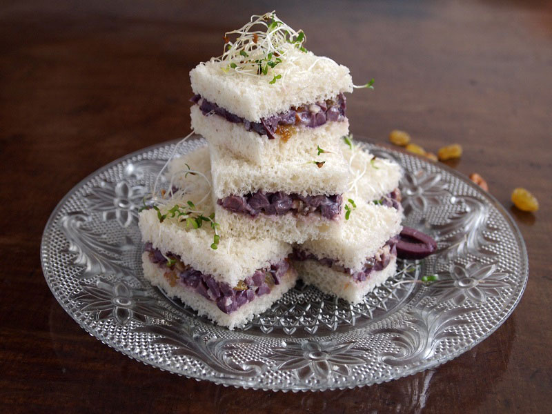 Olive and Raisin Sandwiches