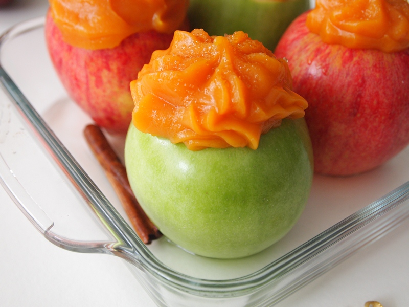 Baked Apples with Sweet Potatoes