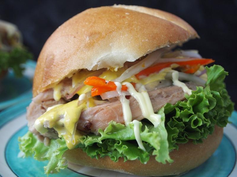 Hearty turkey sandwich