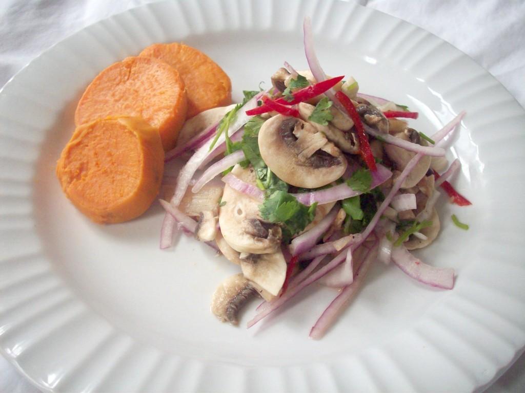 Mushroom cebiche
