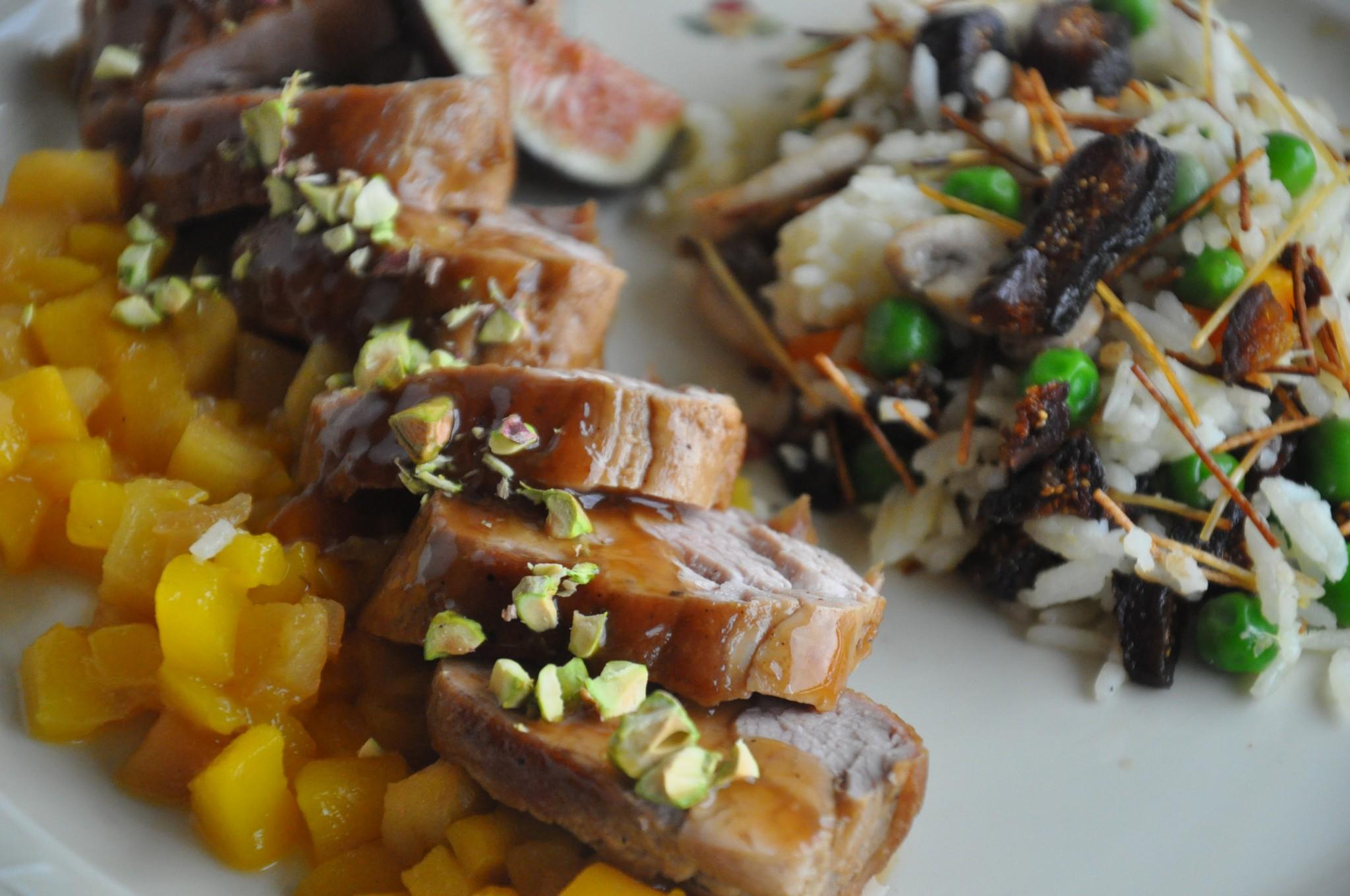 Recipe for pork tenderloin mango chutney